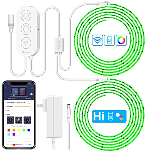 LED Strip Lights Phone Control, Govee 32.8ft Waterproof Wireless Led Light Strip Kit, WiFi Music Sync Smart RGB Light Strip Compatible with Alexa Google Home(Not Support 5G WiFi) - Phone Control