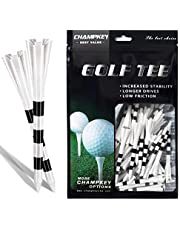 Champkey SDP Plus Plastic Golf Tees 75 Pack | Reduced Friction & Side Spin Golf Plastic Tees