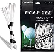 Champkey SDP Plus Plastic Golf Tees 75 Pack | Reduced Friction & Side Spin Golf Plastic