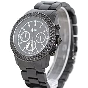Fossil Men's CH2672 Black Stainless-Steel Quartz Watch with Black Dial