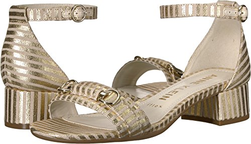 SME Heeled Sandal Gold Natural Fabric 8.5 M US ()