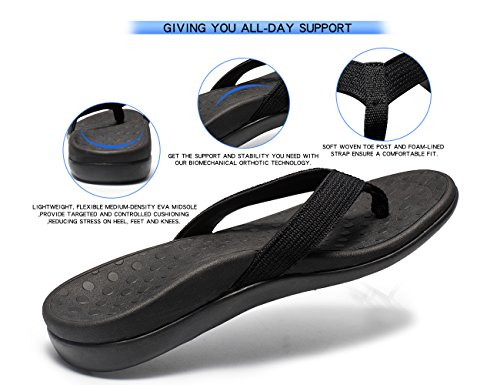 SOARFREE Plantar Fasciitis Feet Sandal with Arch Support - Best Orthotic flip Flops for Flat Feet, Heel Pain & Foot...