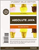 Absolute Java, Student Value Edition Plus MyProgrammingLab with Pearson EText -- Access Card Package, Savitch, Walter and Mock, Kenrick, 0132989972