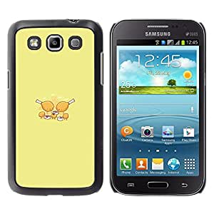 MOBMART Slim Sleek Hard Back Case Cover Armor Shell FOR Samsung Galaxy Win I8550 - Chicken Nugget Party