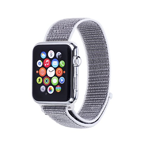 Woven Velcro Nylon Replacement Apple Watch Band by Pantheon,