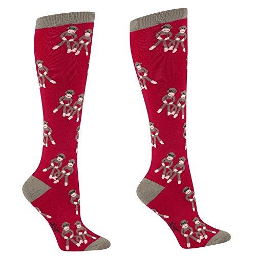 Sock It to Me, Sock Monkey Love, Women's Knee-High Funky Socks, Monkey Love Socks