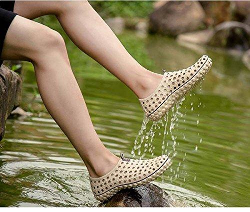Eine andere Sommer-Männer Breathable Pull-on Water Schuhe Loch Sandalen Gelb