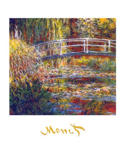 (Buyartforless The Water Lily Pond by Claude Monet 20x16 Art Print Poster)