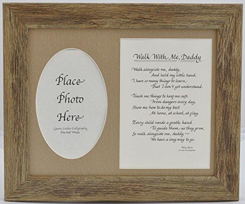 Walk Frame, With Me Daddy詩写真フレームギフト – – Choose yourマット色とフレーム 8X10 Barnwood 8X10 Frame, Burlap Mat B00YHMQVUK, ハローベビー 内祝い お返しギフト:1059714b --- integralved.hu