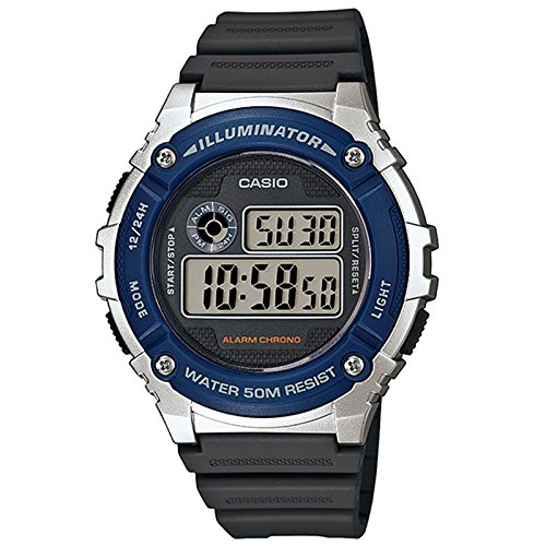 CASIO Reloj con Movimiento Cuarzo japonés W-216H-2A