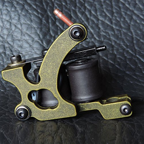 Z ZTATO Professional Iron 10 Wrap Aluminum Coils Tattoo Machine Liner Tattoo Machine Ancient Bronze XHJ003D