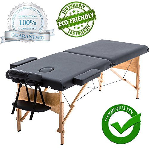 "New Black 84"" Portable Massage Table w/Free Carry Case for sale  Delivered anywhere in USA"