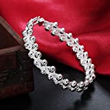 Sumanee NEW CUTE 925 Silver Plated Fashion Bead party women new chain Bracelet jewelry