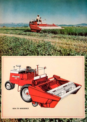 1967 Ad 275 Windrower International Harvester Chicago Illinois Agriculture Field - Original Print Ad from PeriodPaper LLC-Collectible Original Print Archive
