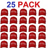 Make America Great Again Hat [25 Pack], Donald Trump USA MAGA Cap Adjustable Baseball Hat Red