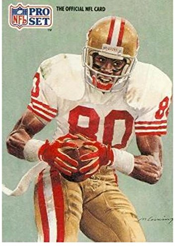 28734974a79 Image Unavailable. Image not available for. Color: Jerry Rice football card  (San Francisco 49ers Hall of Fame) 1991 Pro ...