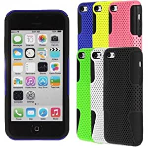 Tough Mesh Combo Silicone Gel Case Cover For iphone 5C --- Color:Yellow