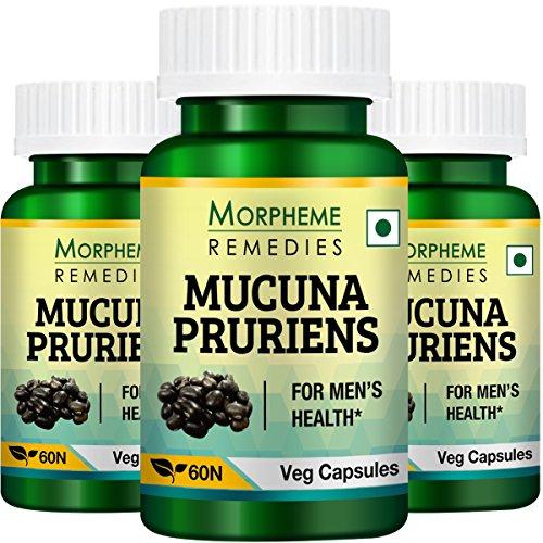 Morpheme Kapikachhu Mucuna Pruriens – 500mg Extract – 60 Veg Capsules – 3 Combo Pack