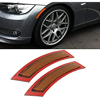 2pcs For BMW E92 E93 3 Series 2DR 07-13 Front Bumper Yellow Reflector Side Marke