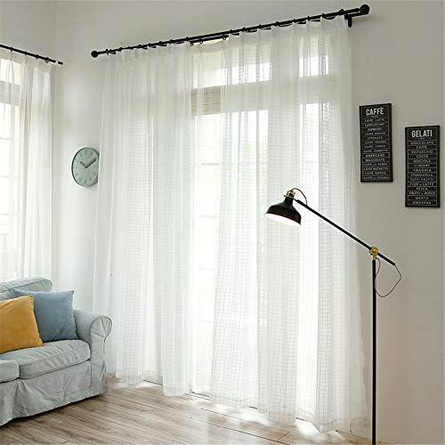 WPKIRA 純粋なカラースグリッドカーテン透けない UVカット薄手 のカーテン おしゃれ 自然に 換気 半遮光 窓 部屋 寝室 マルチカラーソリッドチュールカーテンドア 子どものカーテン 洗濯可能 1組2枚入片幅 幅150cm×丈200cm(2枚入)