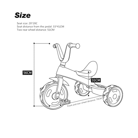 51SlOVgoEKL._SX466_ amazon com xr ride on toys children's tricycle balance bicycle