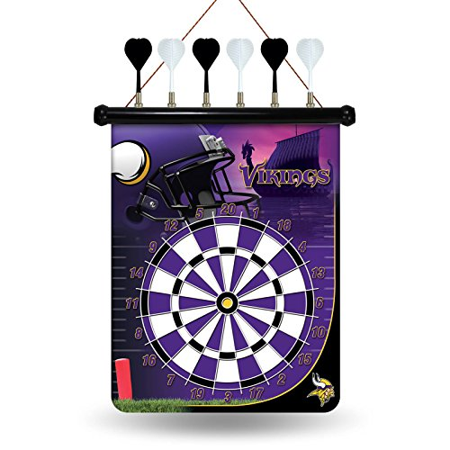 NFL Minnesota Vikings Magnetic Dart Board Magnetic Dartboard Nfl Darts