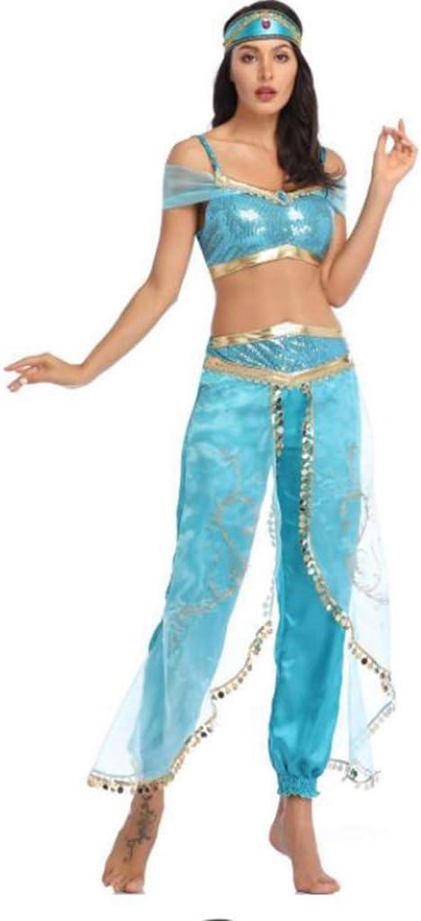 Halloween Disfraz De Princesa Jasmine Disfraz de Danza Ligera ...
