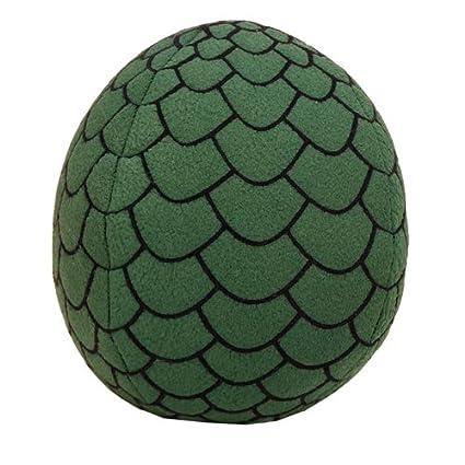 64e0d86534b853 Amazon.com: Factory Entertainment Game of Thrones Dragon Egg Green Plush:  Toys & Games