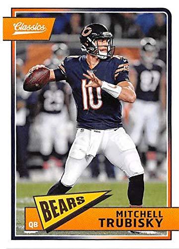 Mitchell Autographed Football - Mitchell Trubisky football trading card (Chicago Bears QB) 2018 Classics #17