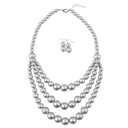 3769f3118dcd Collar y pendientes bisutería conjunto de boda Cadena de oro de ...