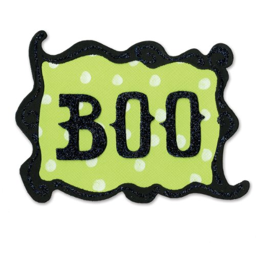 Sizzix Originals Die - Phrase, Boo with Frame by Brenda (Cutting A Pumpkin For Halloween)