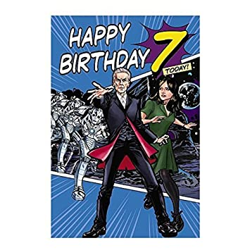 7th Birthday 3d Holographic Doctor Who Greeting Card Amazon