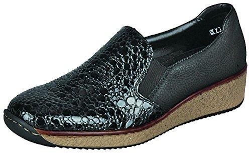 lacets Granit Chaussures Schwarz Schwarz Rieker 56466 femme ville à de 46 gris Granit pour WawYR1qU