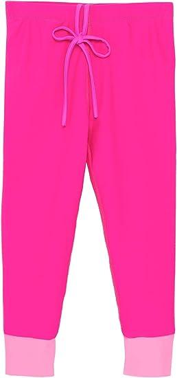 Reef Safe Fuchsia UPF 50+ Sun Protection Swimwear Tight Stirrup Girls Snorkel Legging Made in USA