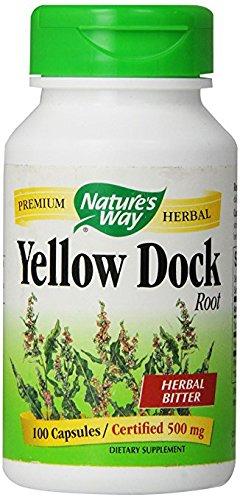 Nature's Way Yellow Dock Root, 100 Capsules, 500mg