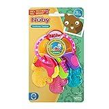 Nuby Ice Gel Teether Keys, 1 pack Pink