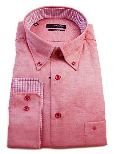 Adesivi Splendesto Regular Fit camicia seta button-down-colletto rosso con taglia 39 strutturata, vivigade - 45/186276,44