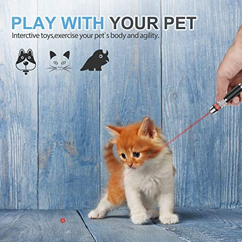 FYNIGO Cat Toys Teaser Wand,Interactive Toys for Cats and Dogs,Once Press Switch Design(2 Pack) 6