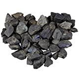 mookaitedecor 1 lb Bulk Natural Raw Stones Rough Crystals for Healing,Tumbling,Cabbing,Polishing,Wire Wrapping,Wicca & Reiki,Labradorite
