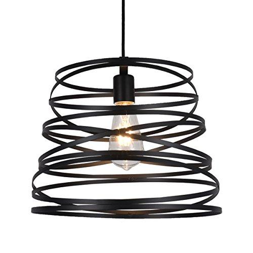 Industrial Metal Black Screw Shape Pendant Lighting - Battaa C5036 (2018 New Design) LED Simple Ceiling Lamp Loft Modern Chandelier for Living Room Kitchen Restaurant Bar Cafe Study 2-Years Warranty