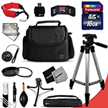 "Ideal Canon DSLR Camera Accessories KIT for Canon EOS Rebel T6i T6S T5i T5 T4i T3i T3 T2i SL1 EOS 70D 60D 5D 750D 700D 650D 600D 550D 1200D 1100D 100D EOS M3 M2 T1i XTi XT SL1 XSi 7D Mark II DSLR Cameras Includes: 16GB High Speed SD Memory Card + Fits All Well Padded Case + Full Size 60"" Inch Tripod + 58mm UV Protection Filter + 58mm Center Pinch Lens Cap + Lens Cap Holder + Memory Card Wallet Case Holder + Floating Foam Hand-Strap + Universal Memory Card Reader"
