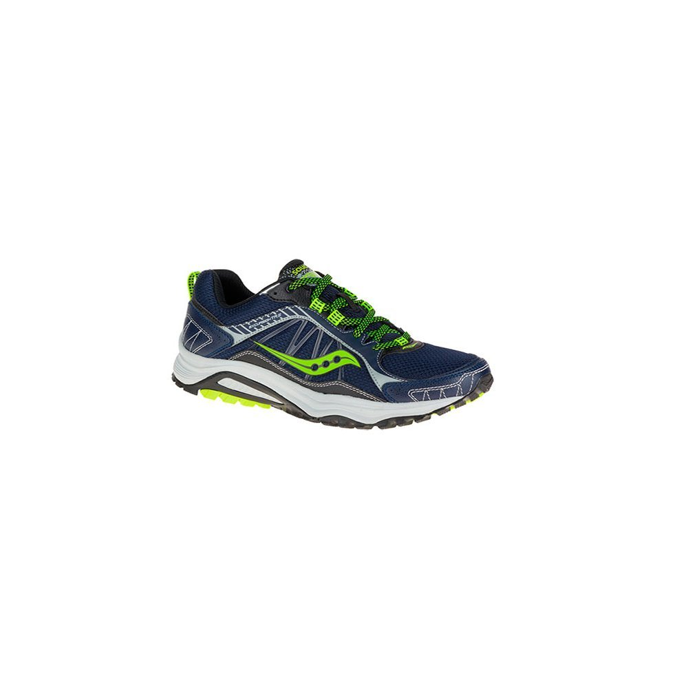 Saucony Men's Grid Excursion TR9 Running Shoe, Grey/Black, 7.5 M US