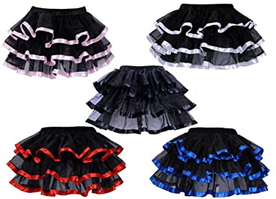 Deargirl Mini Tutu Ballet Multi-layer Ruffle Frilly Bridal Petticoat Skirt
