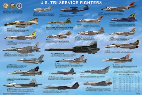 Tri-Service Fighter Aircraft Poster - F-14 Tomcat Wall