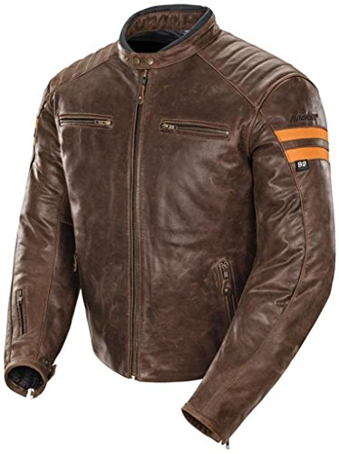 Joe Rocket Classic 92' Leather Jacket Brown Orange Scrambler Medium