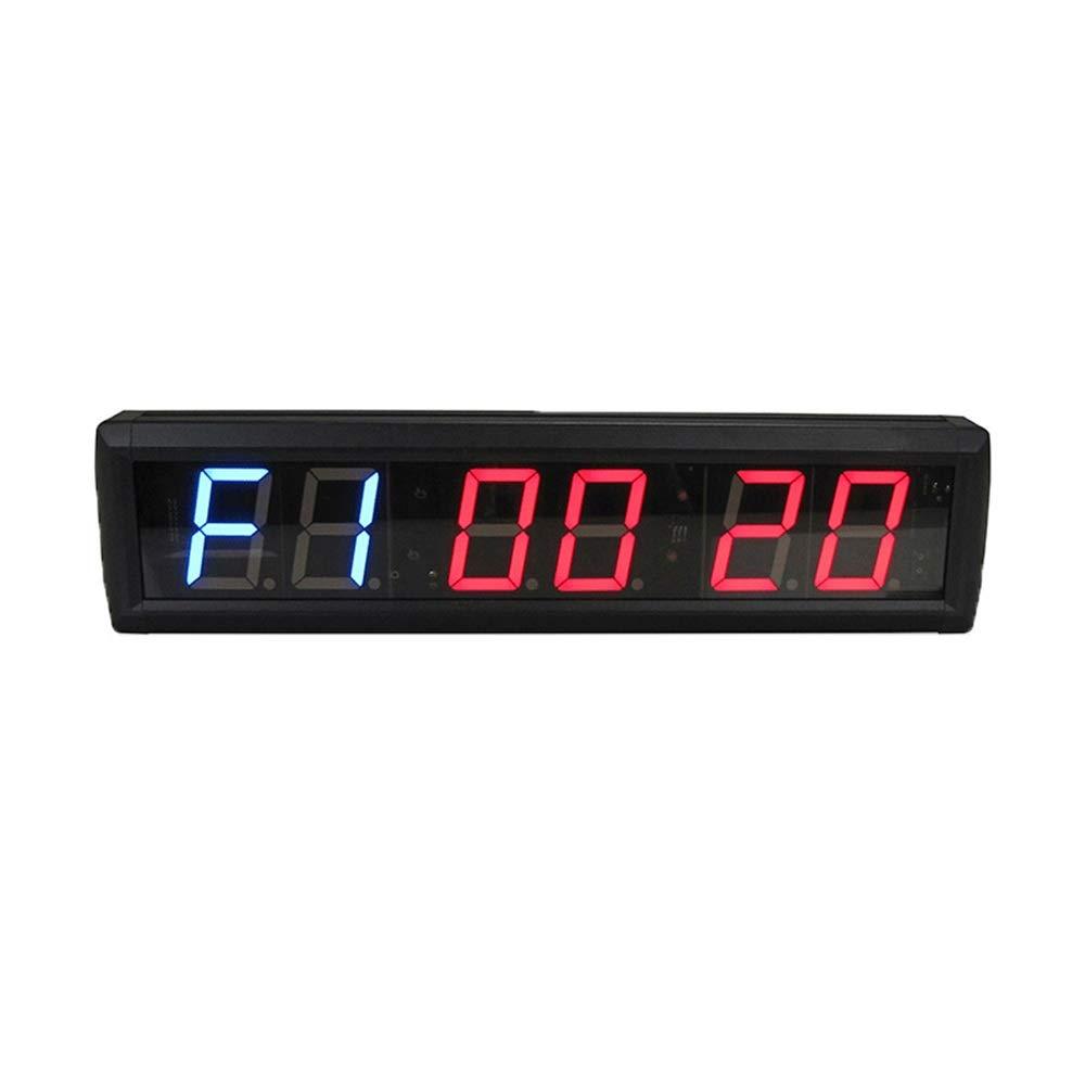 トレーニングタイマー LEDインターバルタイマーカウントダウン壁時計ストップウォッチ多機能ホームジムブラック さまざまな場面に適しています (色 : ブラック, サイズ : 41.5X10X40CM) ブラック 41.5X10X40CM