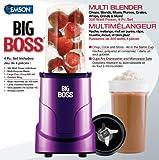 Big Boss 8867 4-Piece Personal Countertop Blender Mixing System, 300-watt, Purple
