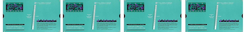Grading Calculator - E-Z Grader Teacher's Aid Scoring Chart (Original) - 8-1/2'' x 4-3/4'' (Fоur Paсk) by E-Z Grader