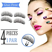 Magnetic Eyelashes Extensions, Newest Model with Double Magnet, No Glue Needed Premium Quality 3D False Eyelashes Set for Natural Look, Perfect Gift for your Loved Ones, Suitable for Any Occasions