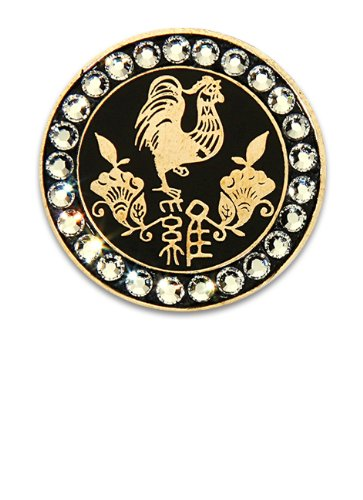 Bella Crystal Zodiac Gold-Rooster Hat Clip (Bella Rooster)